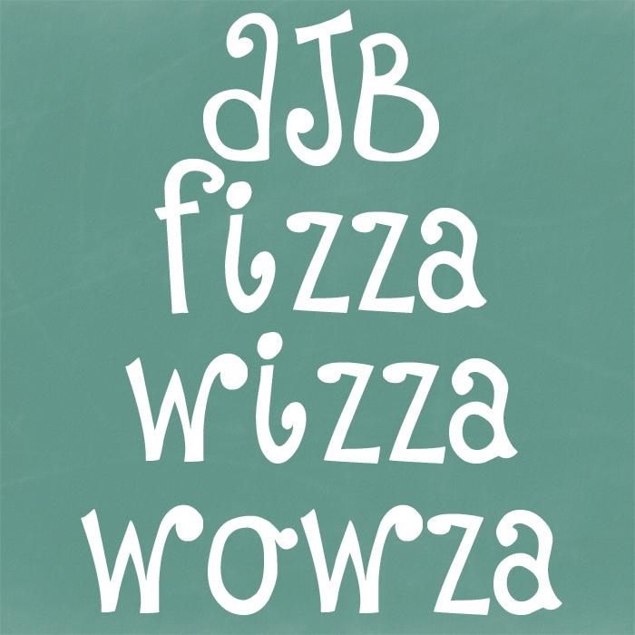 DJB Fizza Wizza Wowza Font poster