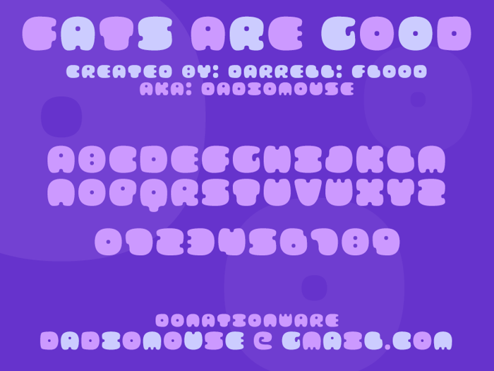 FATS ARE GOOD Font poster