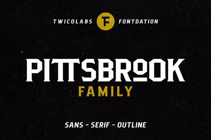 Pittsbrook Sans Font poster