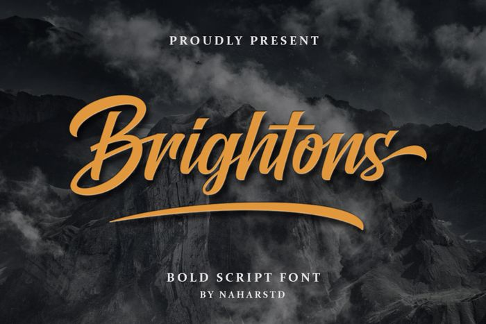 Brightons Script Font poster