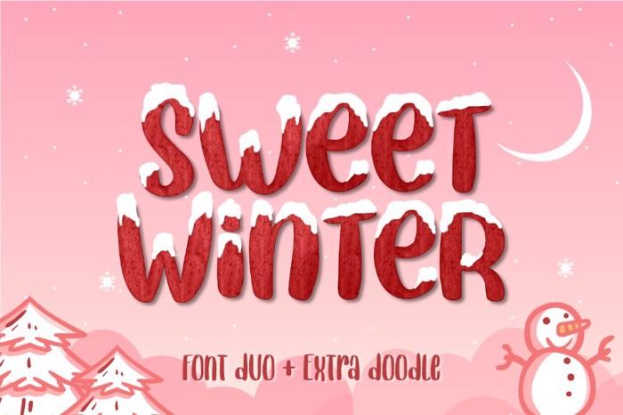 Sweet Winter Regular Font poster