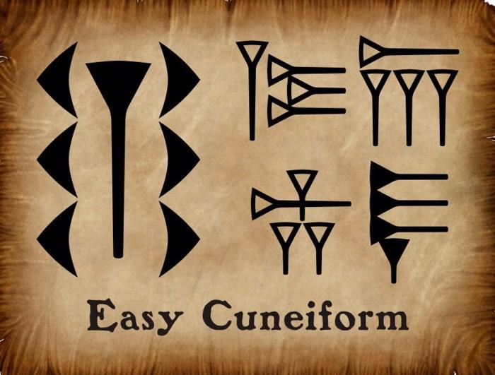 EasyCuneiform Font poster