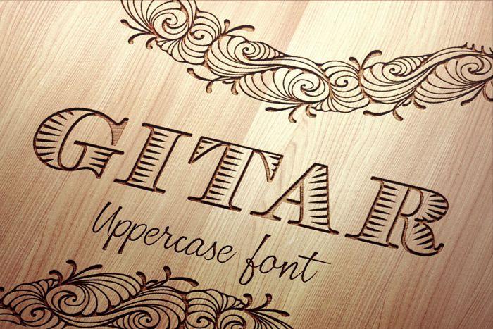 Gitar Font poster
