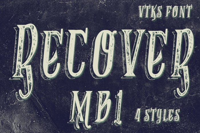 VTKS RECOVER MB 1 Font poster