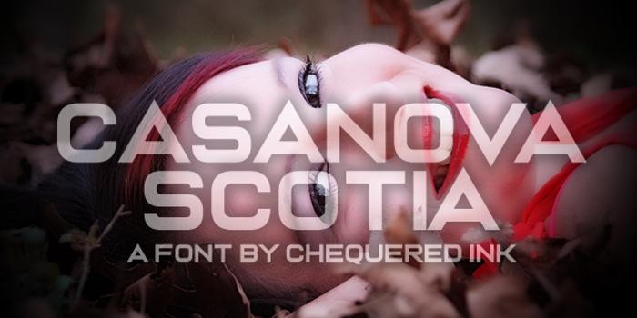 Casanova Scotia Font poster