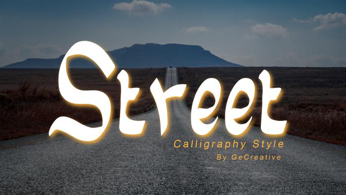 Street Font poster