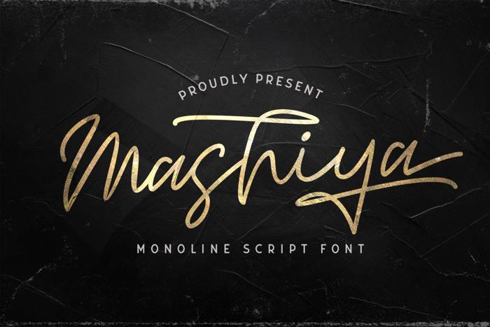Mashiya Font poster