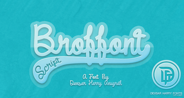 DHF Broffont Script Font poster