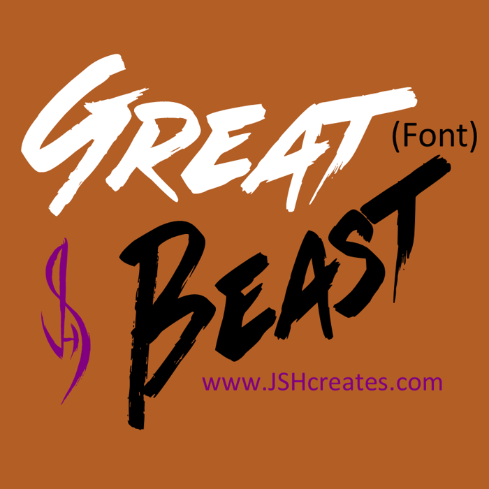 Great Beast Font poster