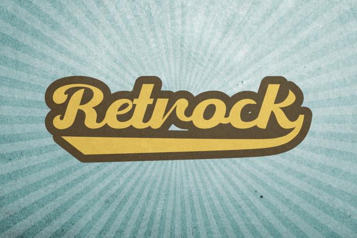 Retrock Font poster