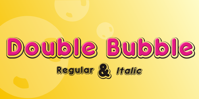 Double•Bubble Shadow Font