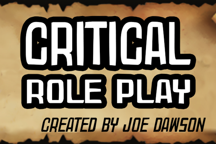 Critical Role Play Font poster