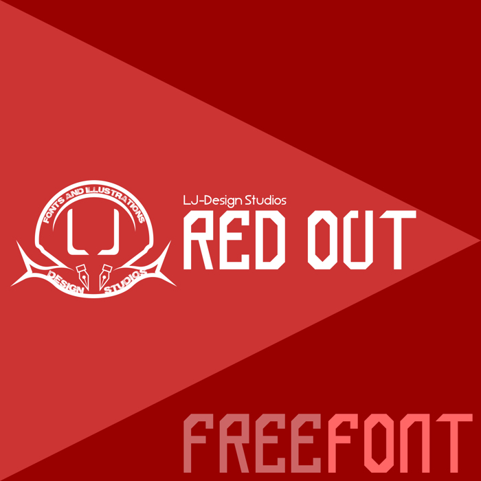 red out Font poster
