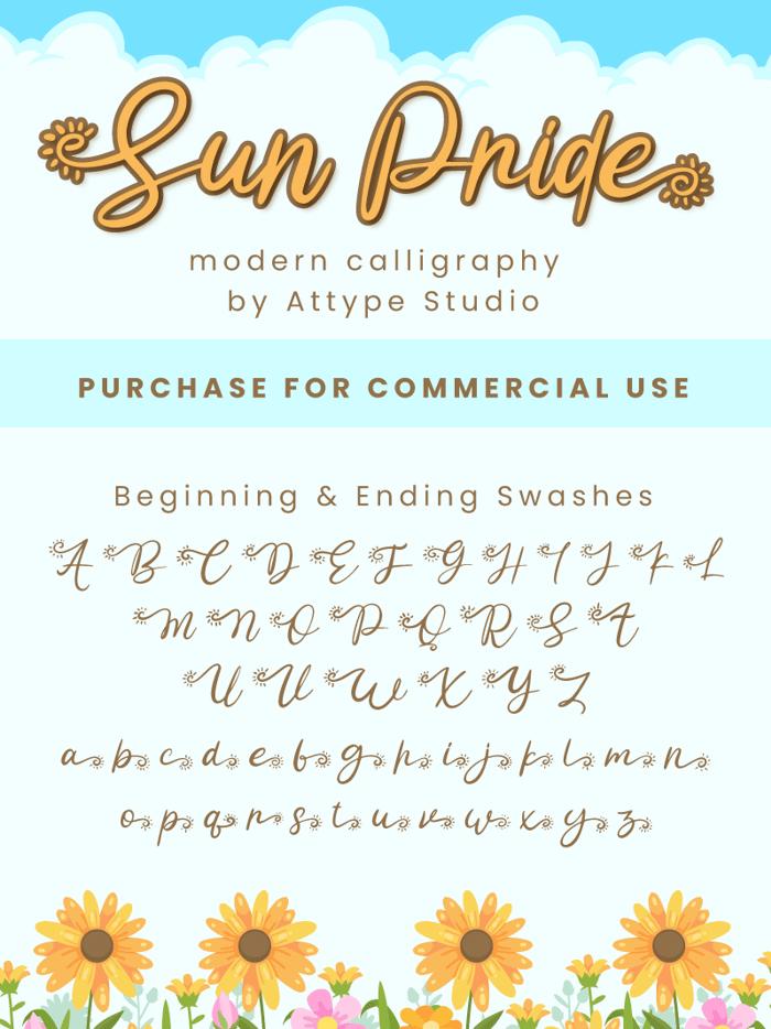 Sun Pride Font poster