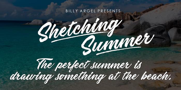 Sketching Summer Font poster