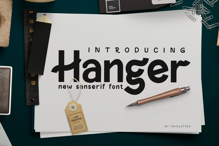 Hanger Font poster
