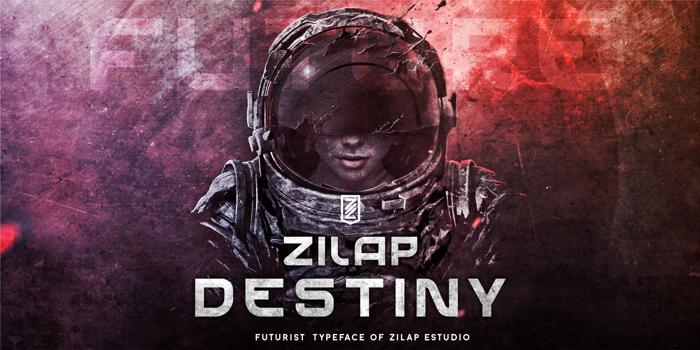 Zilap Destiny Font poster