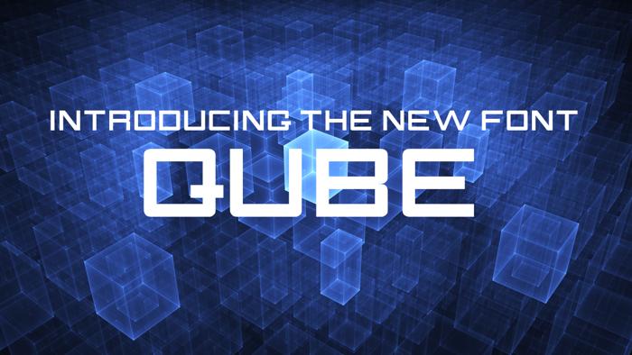 QUBE Font poster