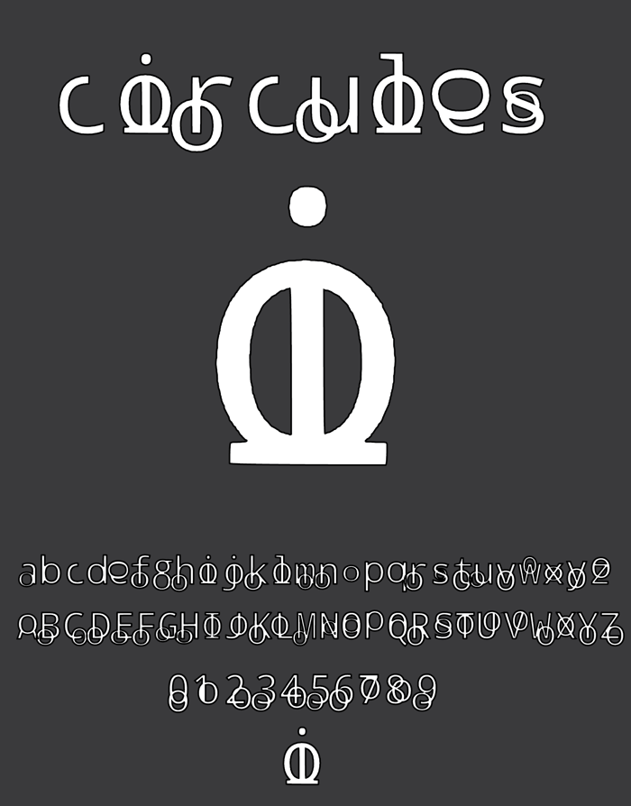 circules Font poster