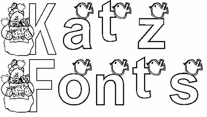 KG WINTERSNO Font poster