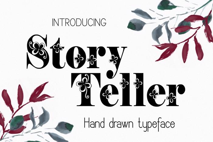 Storyteller Font poster