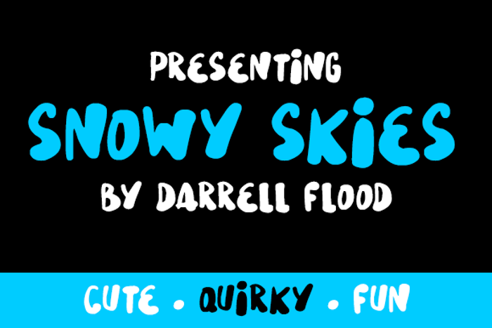 Snowy Skies Font poster