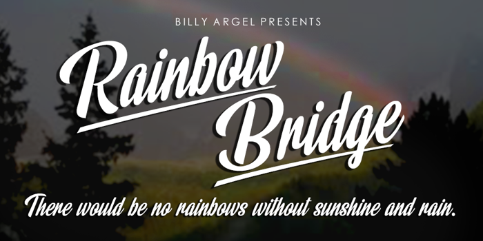 Rainbow Bridge Font poster