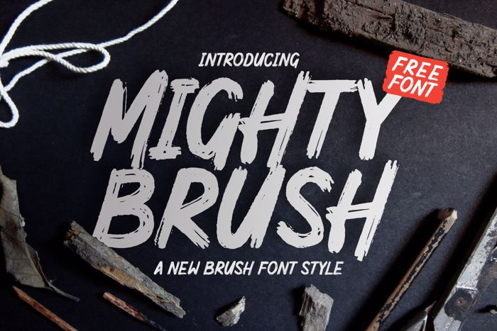 Mighty Brush Font poster