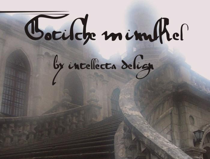 gotische Font poster