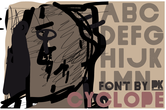 Cyclope Font poster