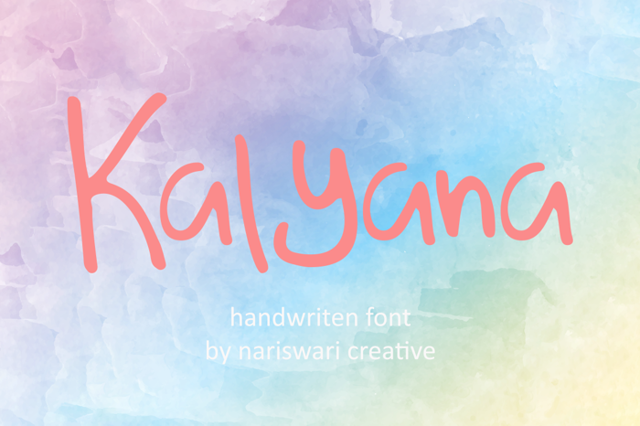 Kalyana Font poster