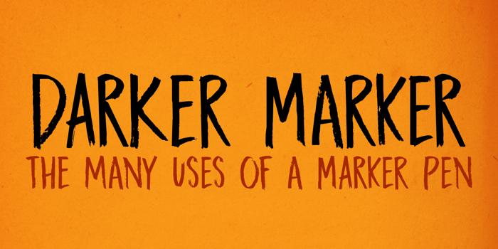 DK Darker Marker Font poster
