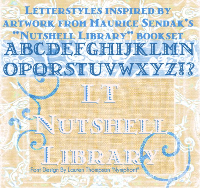 LT Nutshell Library Font poster