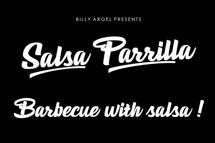 Salsa Parrilla Font poster