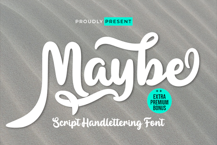 Maybe Font poster