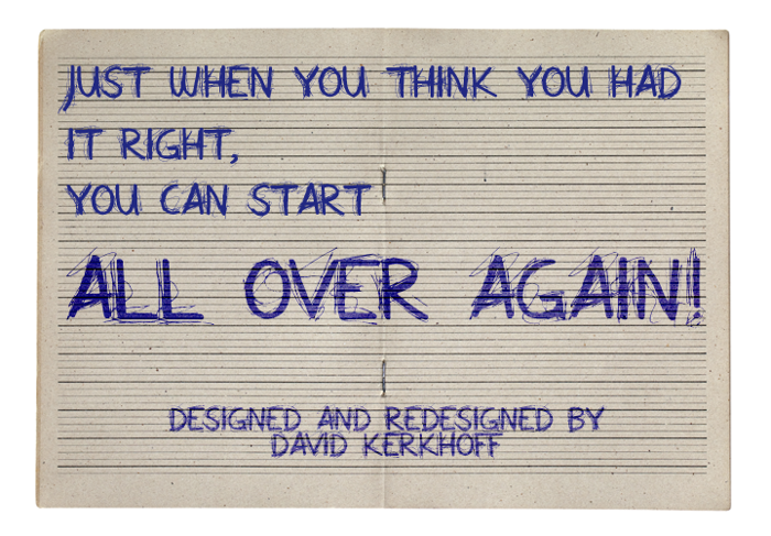 All Over Again All Caps Font poster