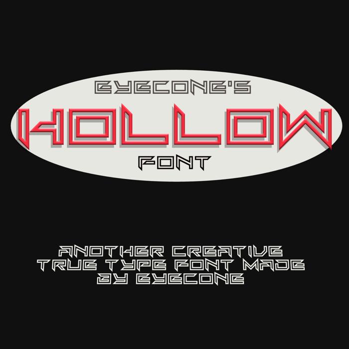 EC_Hollow Font poster