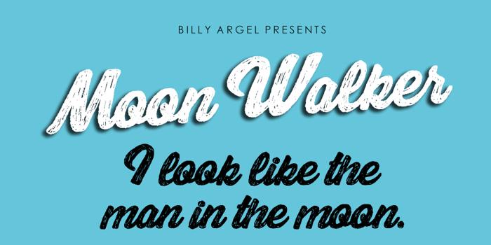 Moon Walker Font poster