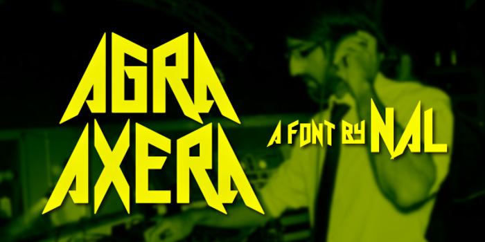 Agra Axera Font poster