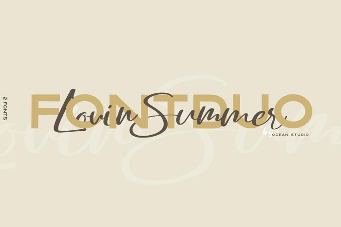 Lovin Summer Font poster