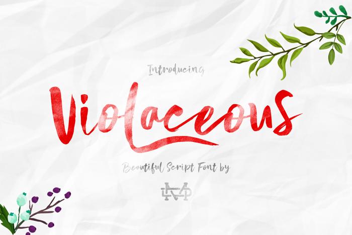Violaceous Font poster