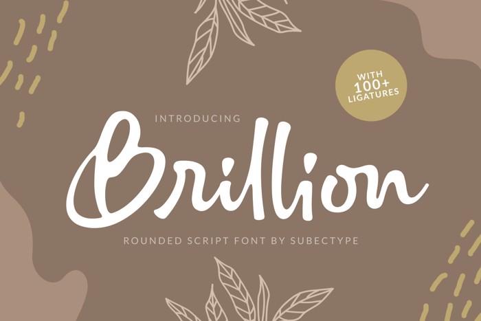 Brillion Rounded Script Font poster