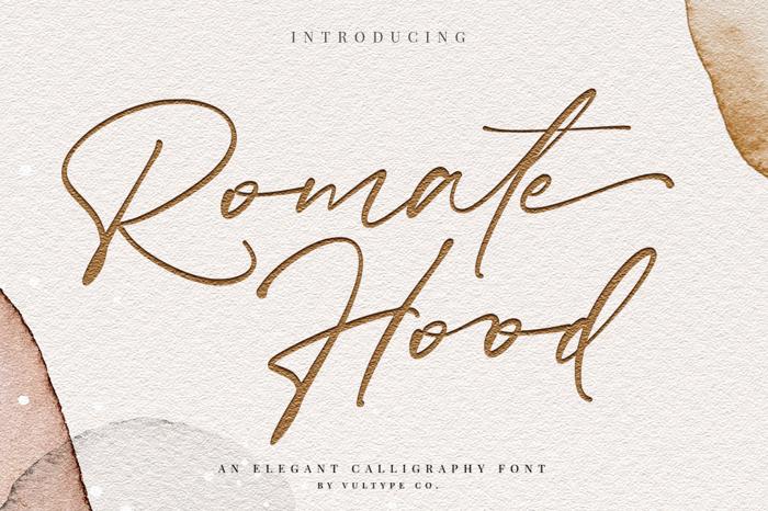 Romate Hood Font poster