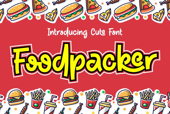 Foodpacker Font poster
