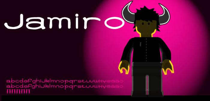 Jamiro Font poster