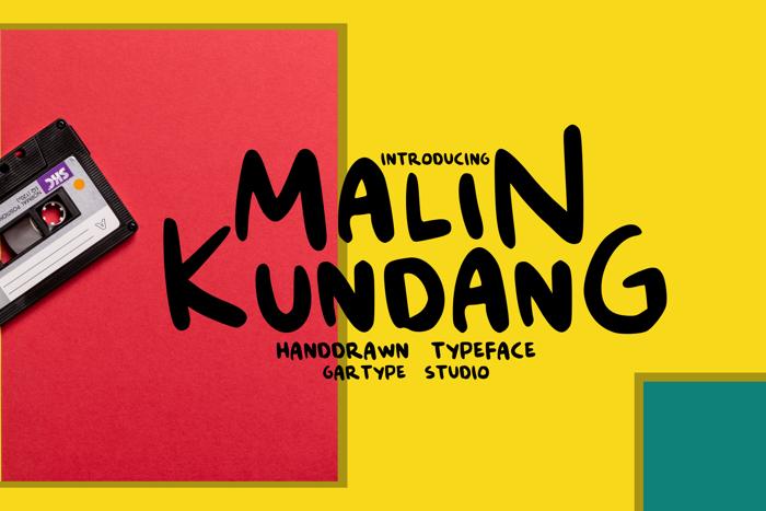 Malin Kundang Font poster
