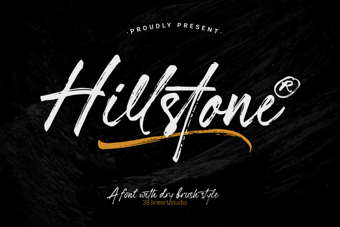 Hillstone Font poster