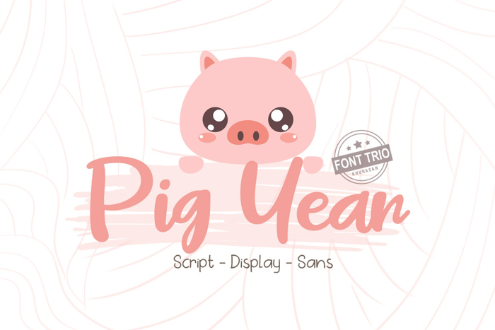 Pig Year Font poster