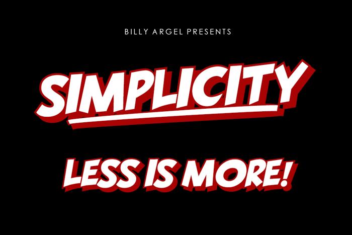 SIMPLICITY Font poster