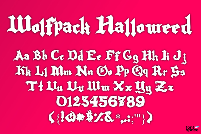 Wolfpack Halloweed Font poster